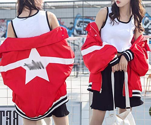 Printemps Automne DEED Baseball Veste Lettre Veste Femmes Porter et Mode De pTxaP1x
