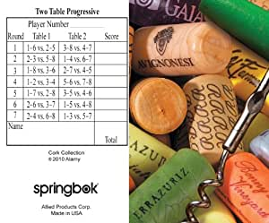 Cork Collection Bridge Tallies (12 Pack) - 2 And 3 Table Progressive