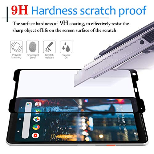 NiceFuse Google Pixel 2 XL Screen Protector [Easy to Install][HD - Clear][Case Friendly] Tempered Glass Screen Protector for Google Pixel 2 XL [2PACK][Black] by NiceFuse (Image #2)