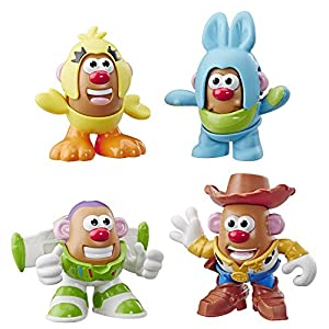 513A2Z7MBeL. SS300  - Mr Potato Head Disney/Pixar Toy Story Mini 4 Pack Buzz, Woody, Ducky, Bunny Figures Toy for Kids Ages 2 & Up