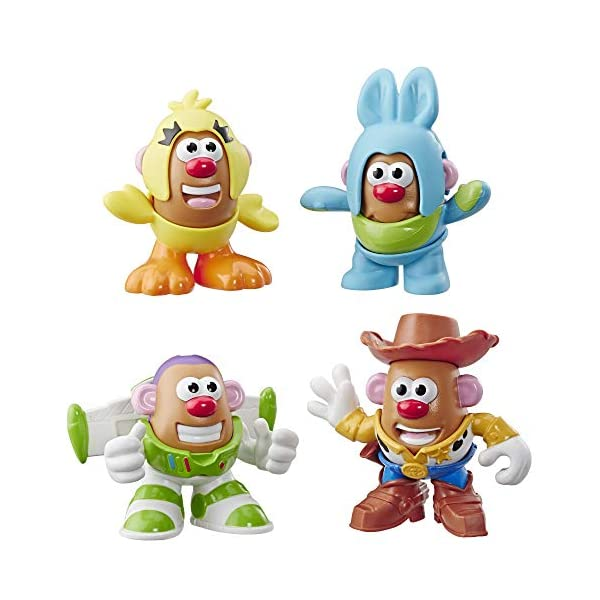 513A2Z7MBeL. SS600  - Mr Potato Head Disney/Pixar Toy Story Mini 4 Pack Buzz, Woody, Ducky, Bunny Figures Toy for Kids Ages 2 & Up
