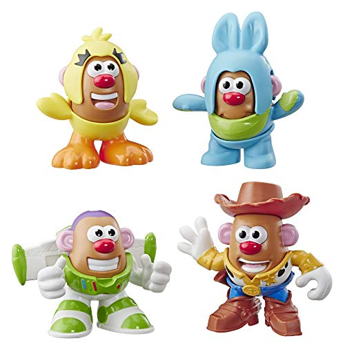 Mr Potato Head Disney/Pixar Toy Story Mini 4 Pack Buzz, Woody, Ducky, Bunny Figures Toy for Kids Ages 2 & Up ()