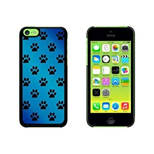 Paw Prints on Parade Blue Snap On Hard Protective For SamSung Galaxy S5 Mini Phone Case Cover - Black