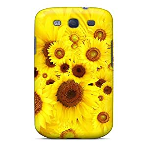 AmyJoHalum Fashion Protective Cool Sunflowers Case Cover For Galaxy S3