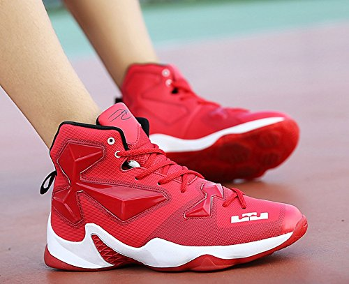 Jiye Performance Sport Shoes Mens Sneakers Da Basket Moda Rosse