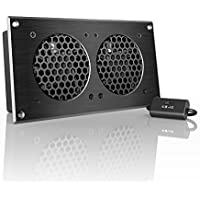 AC Infinity AIRPLATE S5, Quiet Cooling Fan System 8 with Speed Control, for Home Theater AV Cabinets