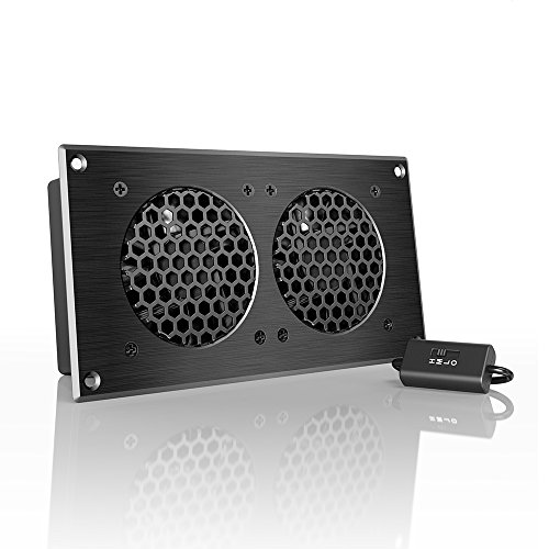 Ac Infinity Airplate S5  Quiet Cooling Fan System 8  With Speed Control  For Home Theater Av Cabinets