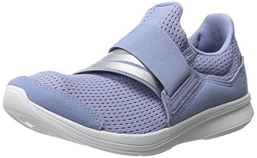 Adidas Performance Lite Resbalón-en el zapato corriente, negro / negro / blanco, 5 M US Prism Blue/Silver/White