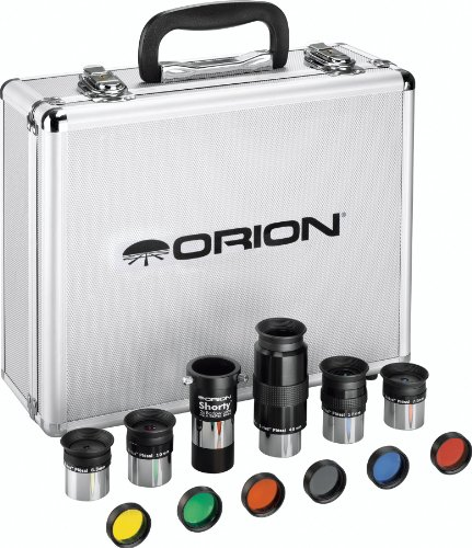 Orion 08890 1.25-Inch Premium Telescope Accessory Kit (silver) (Shorty Orion)