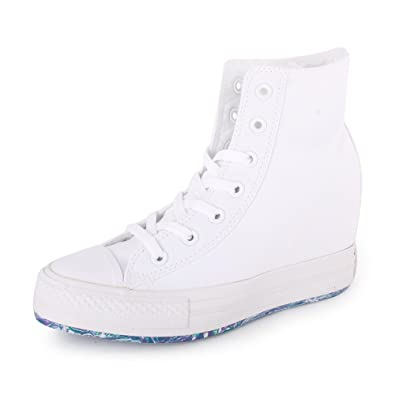 45162be73380 Converse Chuck Taylor Platform Plus 542427C Womens Laced Canvas Trainers  White White - 6  Amazon.co.uk  Shoes   Bags