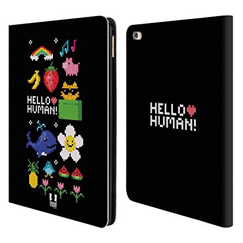 Head Case Designs Nostalgia Digitale Pop Trend Cover a portafoglio in pelle per Apple iPad Air 2