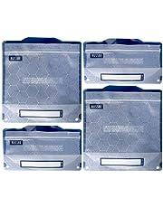 Russbe 18725 Metallic Hexagrid Reusable Snack & Sandwich Bags (Set of 4), Blue