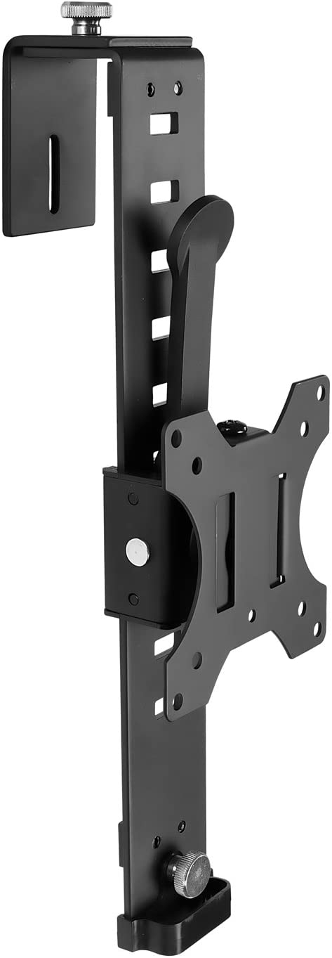 "Mount-It! Cubicle Monitor Mount Hanger Attachment, Hanging Height Adjustable VESA Bracket for a 17"" to 32"" Screen, Adjustable Hook Supports up to 17.6 lbs, Black (MI-785)"