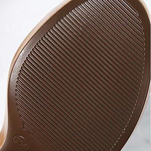 Mesa de Zapatillas Zapatos tacón de 8CM alta Negro Tamaño UK3 5 Con Material Blanco y calidad mujer de FEIFEI Moda Color impermeable alto negro Opcional EU36 alto CN3 Negro de verano 2CM Cómodo 7dw8PHWWq