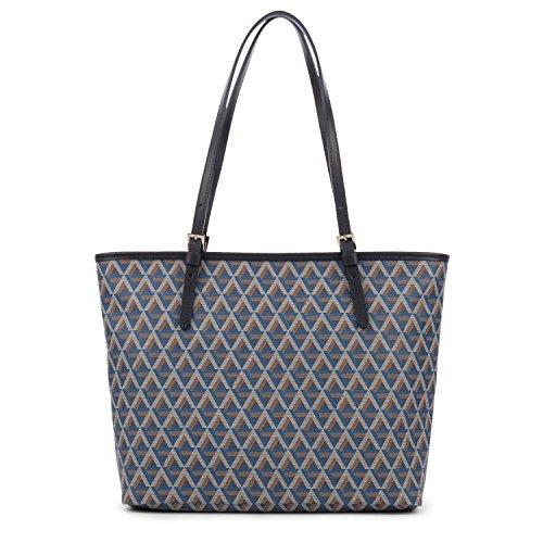 Borsa Lancaster Borsa In Ecopelle Ikon 418-03-bleu Borsa A Tracolla Shopper Donna In Pelle Blu (33x26x13 Cm)