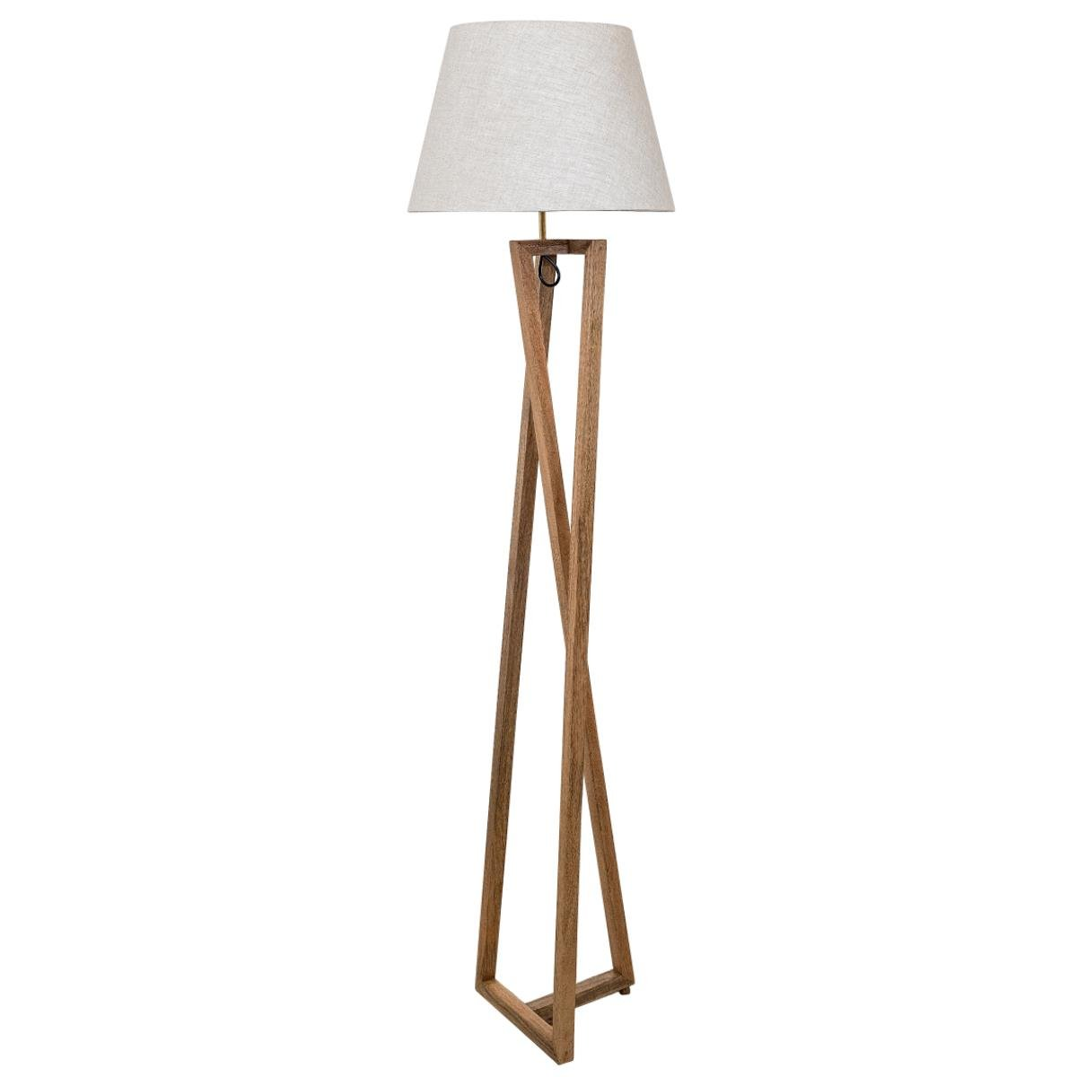 Adina, Asymmetric Tripod, Contemporary Wooden Floor Lamp