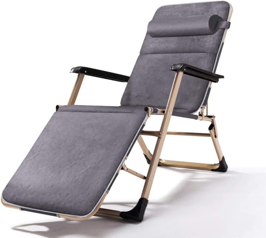 - Beach Chair Adjustable Folding Chair Recliner Lunch Rocking Chair