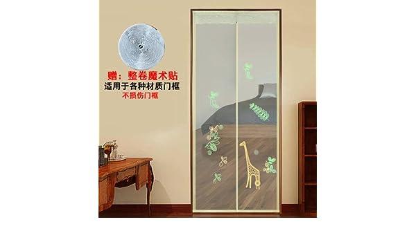 Cortina magnética Mascota amigable Pantalla cortina de la puerta del acoplamiento para puerta corredera de balcón de sala de los niños de estar,Auto cierre,Anti insectos moscas mosquitos-A 100x200cm(39x79inch): Amazon.es: Hogar