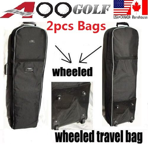 2pcs A99 Golf T07 Travel Bags Cover Tour Luggage Wheeled Carry Black by A99 Golf (Image #6)