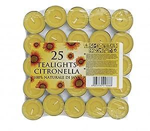 Jay TrendsJTTC 0425Tealight Citronella Candle-25PK TEALIGHT CIT CANDLE