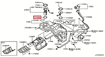 Amazon.com: Infiniti 17342-CE800, Fuel Pump Tank Seal ... on fuse box diagram, front end assembly diagram, ignition coil diagram, fuel system diagram, rear suspension diagram, fuel line diagram, fuel pumps aeromotive 340 hp, carburetor diagram, camshaft diagram, fuel regulator diagram, fuel tank diagram,