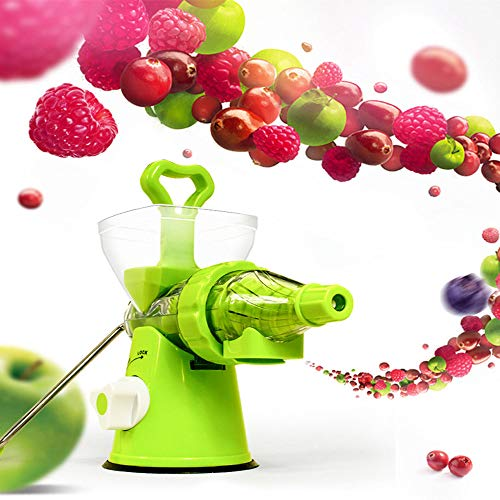 Manual Juicer, ALISKY Fruit Vegetable Juicer Citrus Orange Squeezer Grinder Masher Wheatgrass Leafy Green Juicer Extractor Portable Machine ()