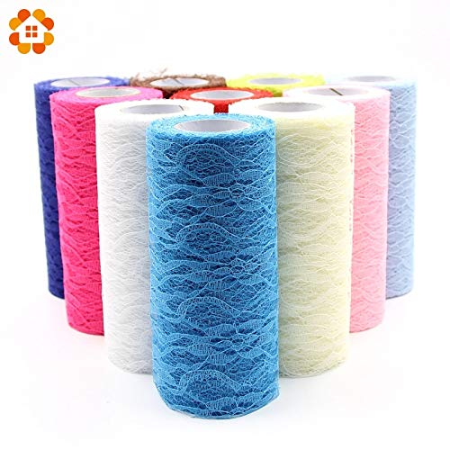 Tyro 15cm x 10yard Tulle Organza Roll Fabric Sheer Gauze Element for Table Runner and Home Garden Wedding Party Decoration from Tyro