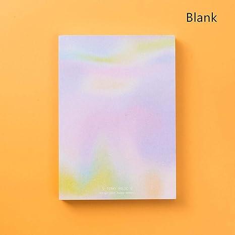 Amazon.com: Memo Paper Pads – Rainbow Laser color note book ...