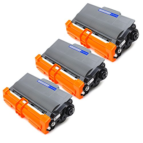 JARBO Compatible for Brother TN750 TN-750 TN720 TN-720 Toner CartridgesHigh Yield, 3 Black, Use with Brother HL-5450DN HL-5470DW HL-6180DW MFC-8710DW MFC-8910DW MFC-8950DW DCP-8110DN Printer