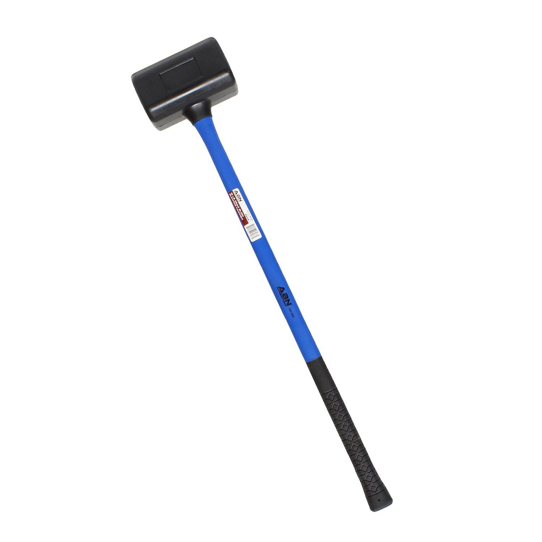 "ABN   10 lb pound Rubber Mallet Hammer, 35"" Inch, Dead Blow Mallet Woodworking Mallet Rubber Hammer Automotive Hammer"