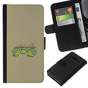 Stuss Case / Funda Carcasa PU de Cuero - Pea Soldier - Funny - Samsung Galaxy Core Prime