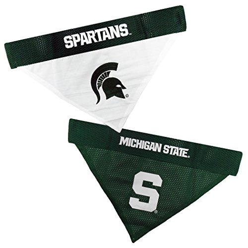 - Pets First Collegiate Pet Accessories, Reversible Bandana, Michigan State Spartans, Small/Medium