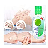 Super Protection 50ML Disposable No Clean Waterless Hand Sanitizer Gel/Kills 99.9 Percent of Harmful Substance/ Portable Mini Hand//Travel Waterless,Home, Workplaces, Scent, Speed Dry Hand (50ml)
