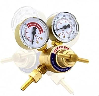 Rear Mount Acetylene Gas Welding Welder Brass Regulator Pressure Gauge Victor