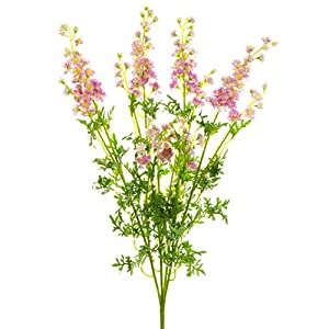 28″ Silk Larkspur Delphinium Flower Spray -Dark Lavender (Pack of 6)