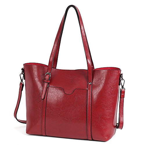 Large Vintage Red Cross Leather Bag for Ladies Work Wine Size Handbag Casual for Girls Women Shoulder Travel Coffee Satchels Vovoye Body Bag Faux Bag WZv7q0IwgX