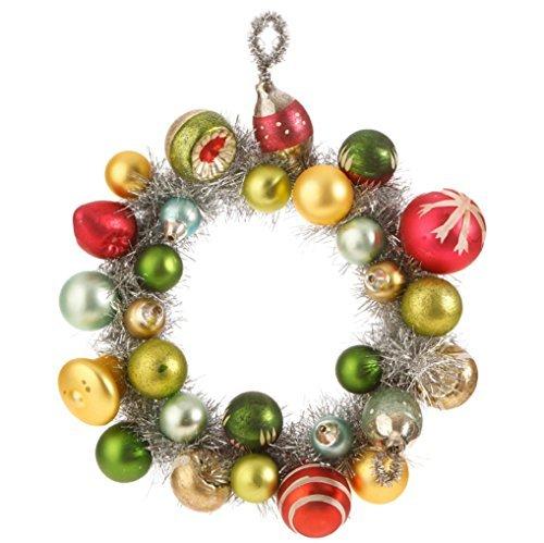 - 7-inch Glass Ball Wreath Ornament