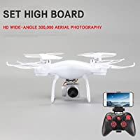 Hongfei Upgraded Z008 Drone with 720P Wifi Camera Real-time Transmission,Trajectory Flight, 3D Tumbling, Speed Regulation, One Key Take-off and Landing,Gravity Sensing,Drone for Adults