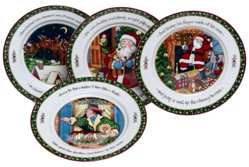 Portmeirion A Christmas Story Dinner Plates Series 3 Set of 4 Amazon.co.uk Kitchen u0026 Home  sc 1 st  Amazon UK & Portmeirion A Christmas Story Dinner Plates Series 3 Set of 4 ...