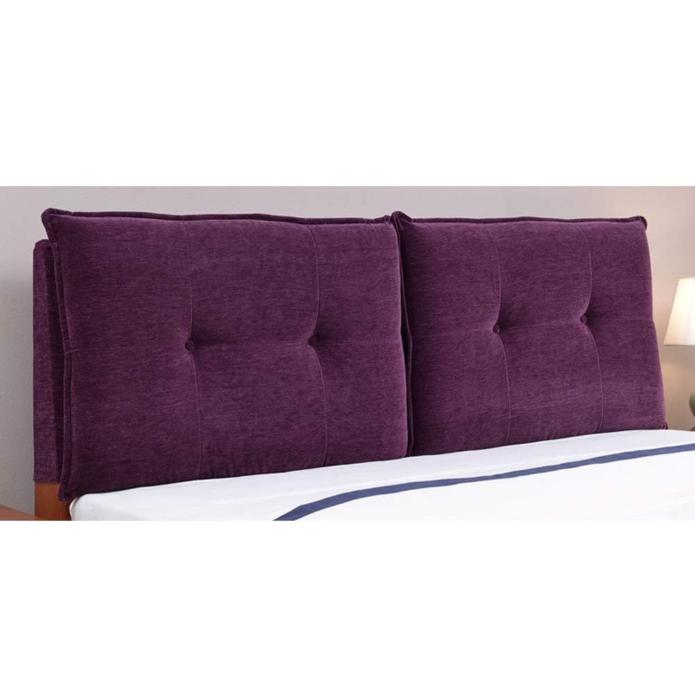 ベッドサイドピロー パッド入りヘッドボード 背もたれヘッドボード ヘッドボード ベッドサイドクッション リムーバブルと洗えるヨーロッパスタイルのソフトケース ZHANGAIZHZEN (色 : Flannel - purple, サイズ さいず : 190*60cm) B07PQQK4BQ