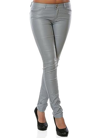 7eededb4b1b2 Daleus Damen High-Waist Kunstlederhose Skinny DA 15870  Amazon.de   Bekleidung