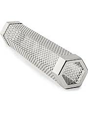 Merrday 30 cm premium pelletrökare tub rostfritt stål sexkantig BBQ rökgenerator 5 timmars avbildande rök för att lägga till extra röksmak för all grillad mat