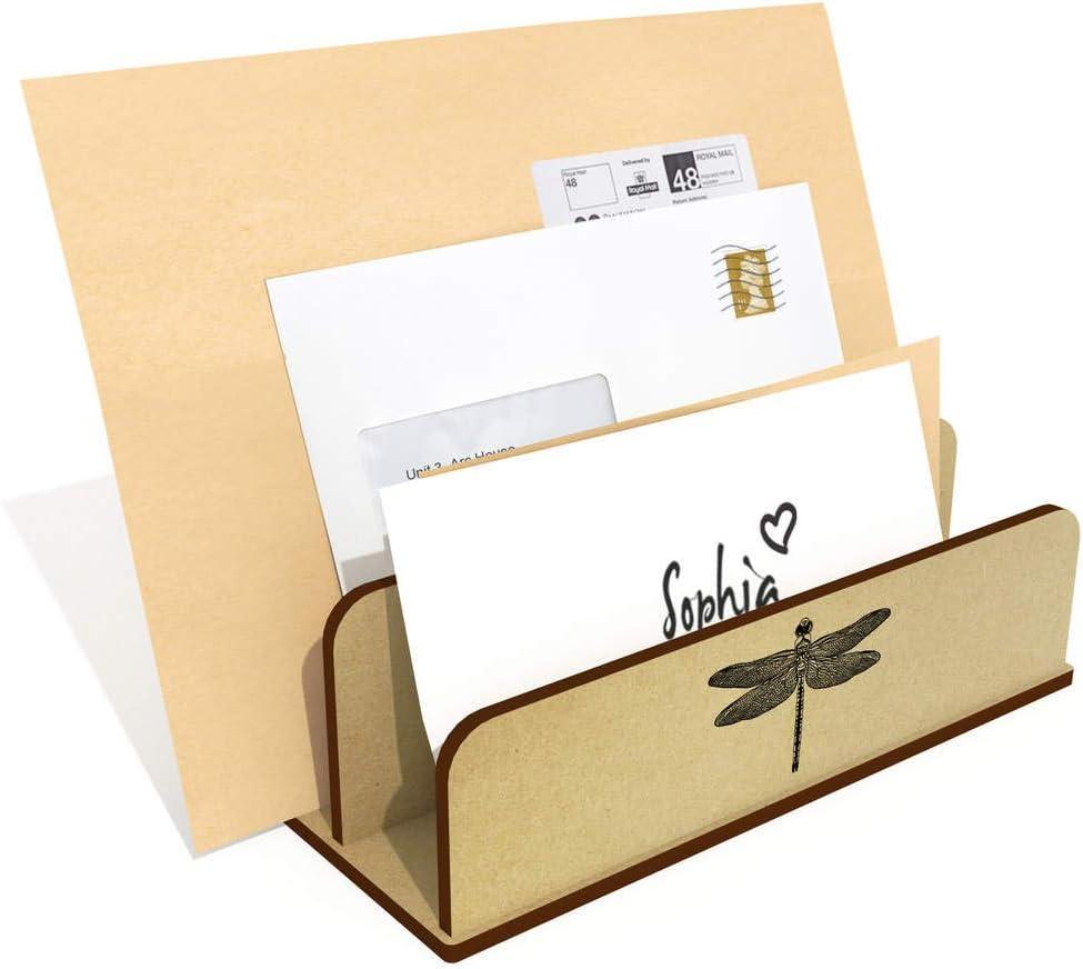 LH00045287 Holder Azeeda Dragonfly Wooden Letter Rack