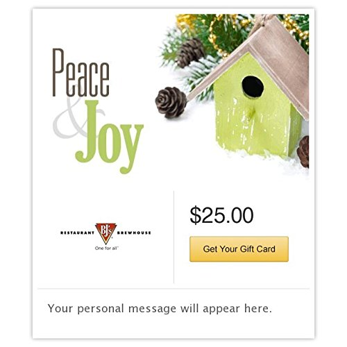 BJ's Restaurant & Brewhouse Peace and Joy Gift Cards - E-mail Delivery
