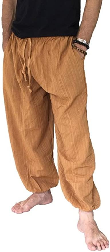 Hippie Pants, Jeans, Bell Bottoms, Palazzo, Yoga Love Quality Baggy Pants Mens One Size Cotton Harem Pants Hippie Boho Trousers $19.99 AT vintagedancer.com