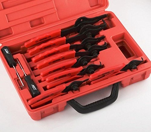 New Snap Ring Plier Set 11pc Mechanic PRO Circlips w/Case Car Truck Motorcycle by AJ/RR