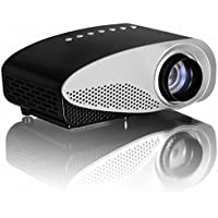 LightInTheBox 1080P HD Multimedia LED MiNi Projector Home Theater Cinema Video AV TV VGA HDMI S-Video PC Laptop 20000 Hours Led life with Remote