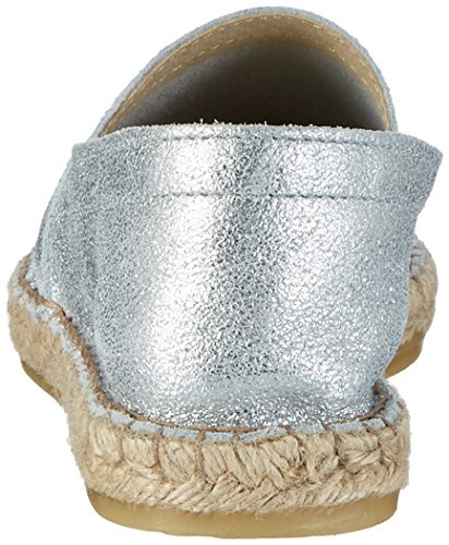 Argent Espadrilles Sil Colour Femme Espadrillos Pieces Suede Pskatie Metallic Silver TwP0XI