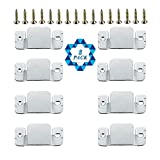SOTOGO 8 Pcs Sectional Connectors Furniture Interlock Style Metal Sectional Sofa Connectors With Screws
