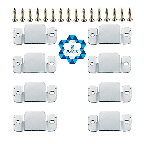 - SOTOGO 8 Pcs Sectional Connectors Furniture Interlock Style Metal Sectional Sofa Connectors With Screws
